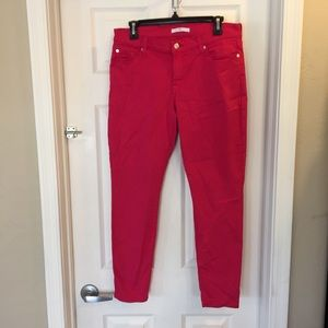 7 for all Mankind Pink Skinny Jeans